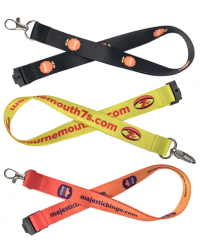 Dye Sublimation Silky Lanyards Printed Full Colour