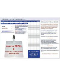Visitor & Contractor Book Starter Kit Express - REFILL Passes & Holders