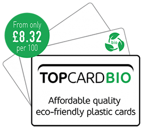 TOPCARD Biodegradable Blank Plastic Cards